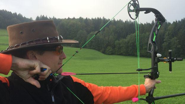 Bogenschütze Lukas Gautischi