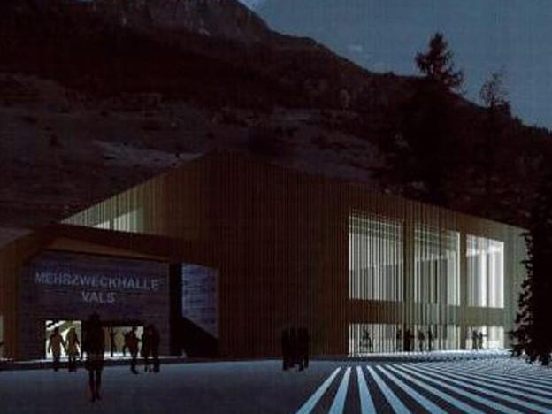 Visualisierung der Dreifachhalle.