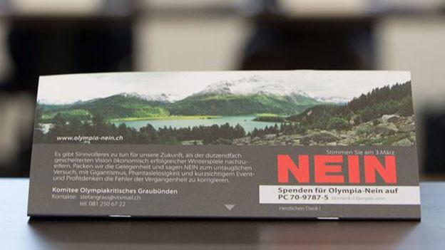Nein zu Olympia: Werbung vor der Abstimmung