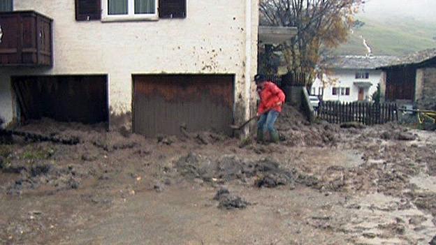 Unwetter: Schäden in Graubünden