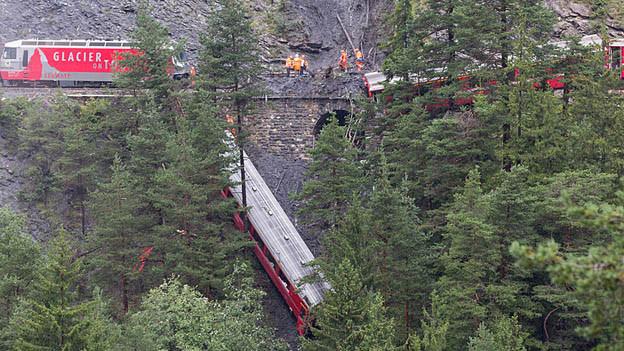 Das Zugsunglück Mitte August 2014