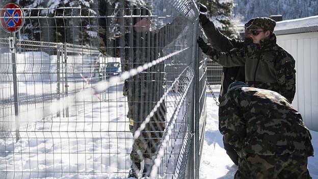 Davos wird zur Festung
