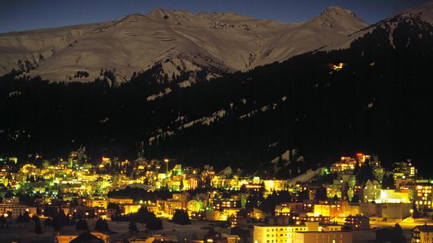 Davos in der Nacht.