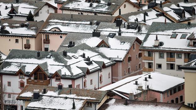 Dächer in Silvaplana