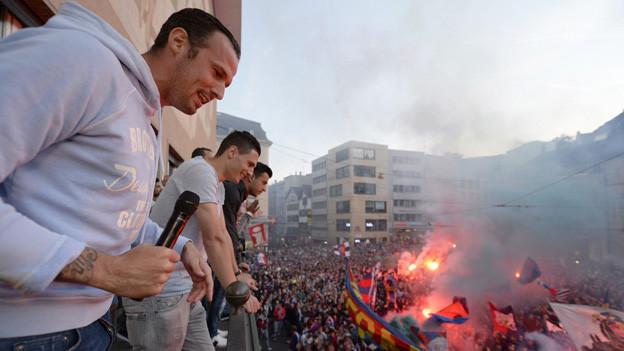 Basel feiert den 18. Meistertitel des FCB