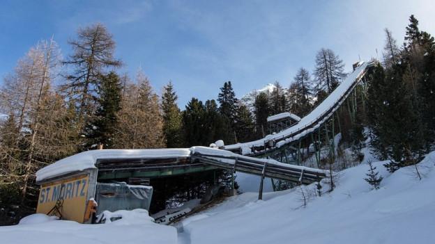 Die Olympiaschanze in St. Moritz
