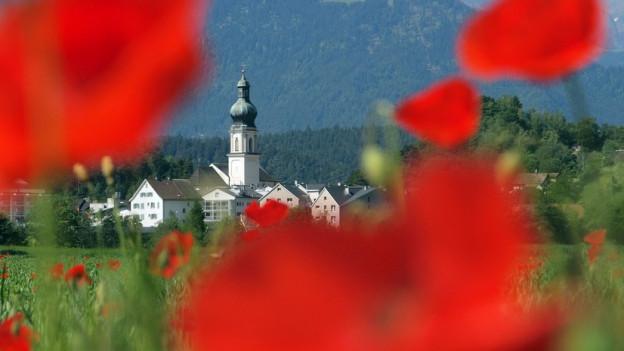Die Kirche von Domat/Ems.
