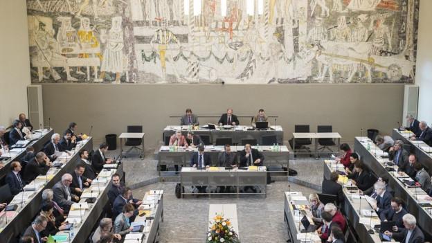 Blick in den Bündner Grossratssaal