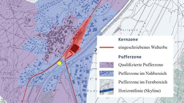 Karte des betroffenen Gebiets