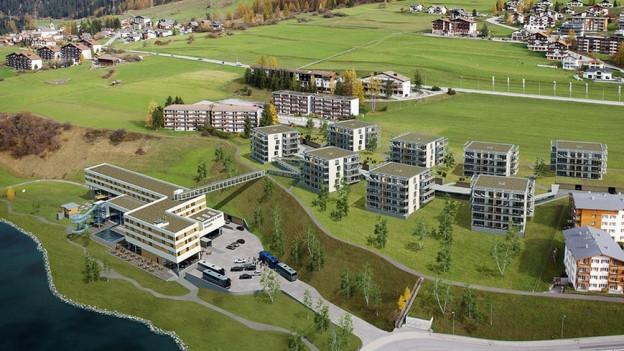 Nebst einem Hotel sollen auch Ferienwohnungen und ein Hallenbad entstehen.