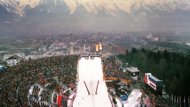 Olympische Winterspiele 1976 in Innsbruck.