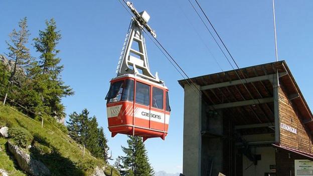 Die Bahn auf den UNESCO Aussichtsberg Cassons ist stillgelegt