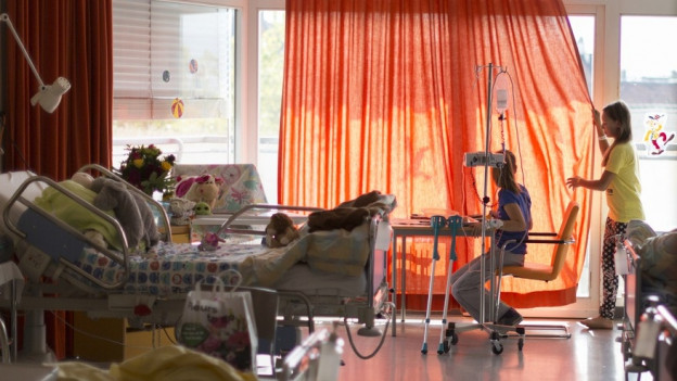 Krankenzimmer im Kinderspital