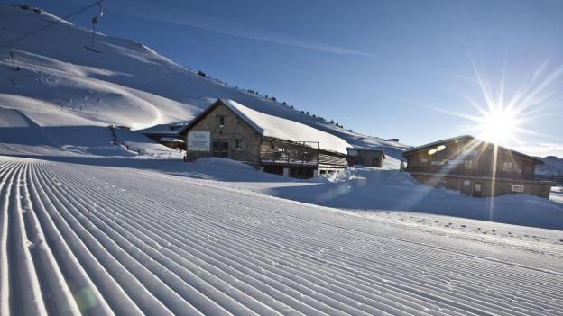 das Skigebiet Minschuns