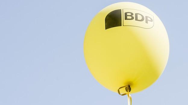 Ballon mit Parteizeichen BDP