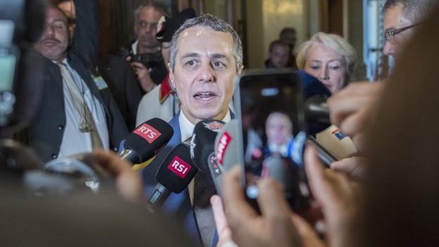Der neugewählte Bundesrat Ignazio Cassis
