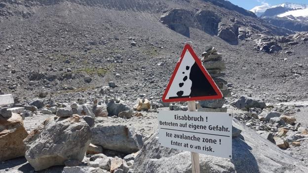 Am Morteratschgletscher ereignete sich ein tödlicher Steinschlag.