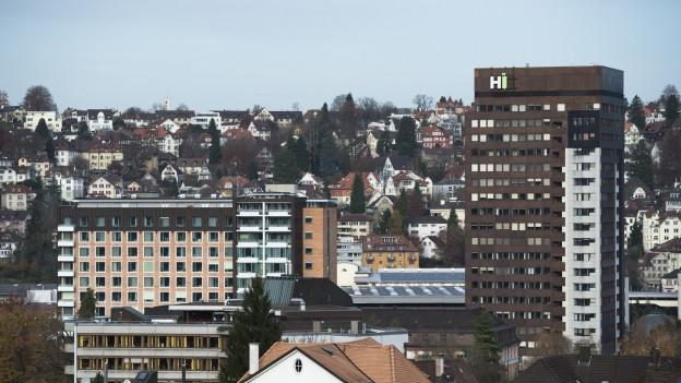 Die Gebäude des Kantonsspitals St. Gallen.