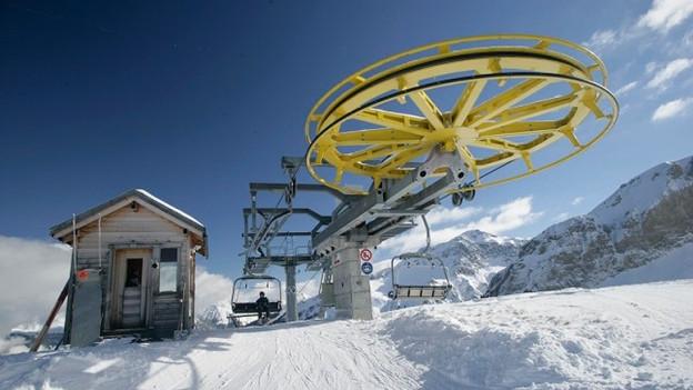 Bergstation einer Sesselbahn