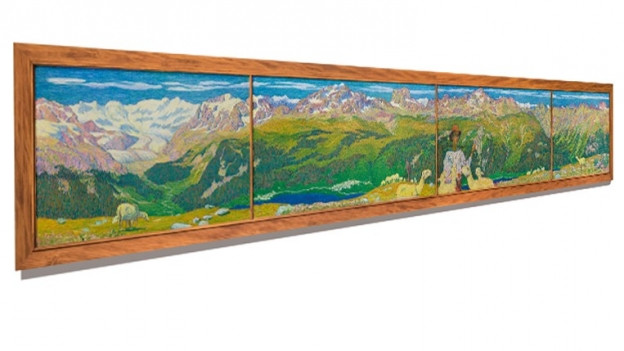 Giacomettis «Panorama von Muottas Muragl»