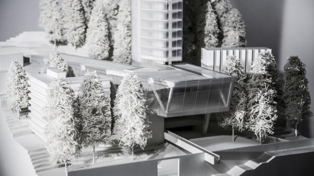Modell des Hotels