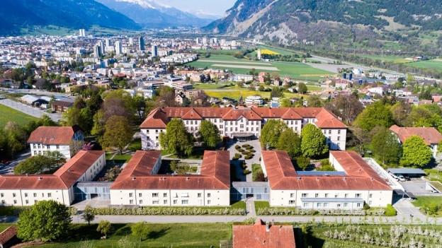 Klinik Waldhaus Chur von oben