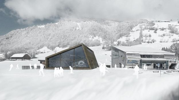So soll das neue Restaurant bei der Talstation der Luftseilbahn Engelberg-Brunni aussehen.