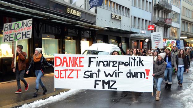 Die Schüler-Proteste beeinflussten den Kantonsrat bei seinen Entscheidungen nur wenig.