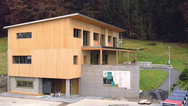 Das neue Pfadiheim in Adligenswil.