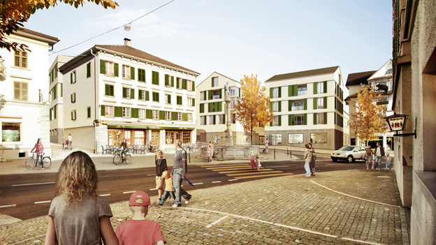 So soll das Ruswiler Dorfzentrum dereinst aussehen.