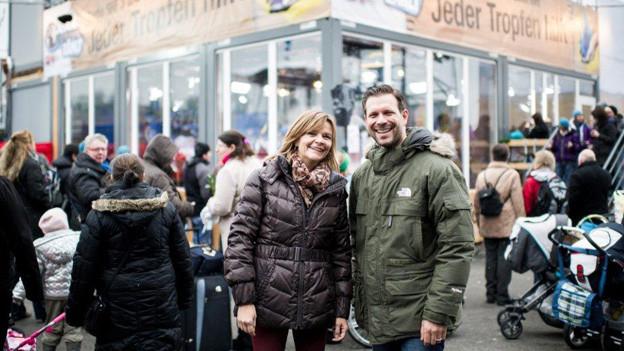 Die JRZ-Projektleitung  Susanne Witzig und Reto Peritz.