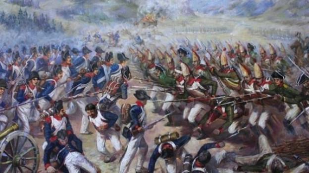 Die Schlacht zwischen russischen und französischen Truppen auf Muotathaler Boden.