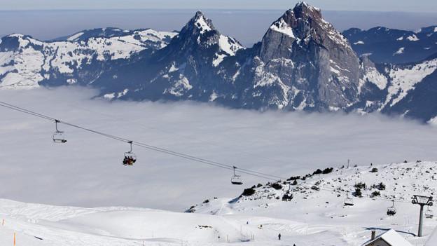 Wintersportler kamen in den letzten Tagen in Scharen auf den Fronalpstock auf dem Stoos.