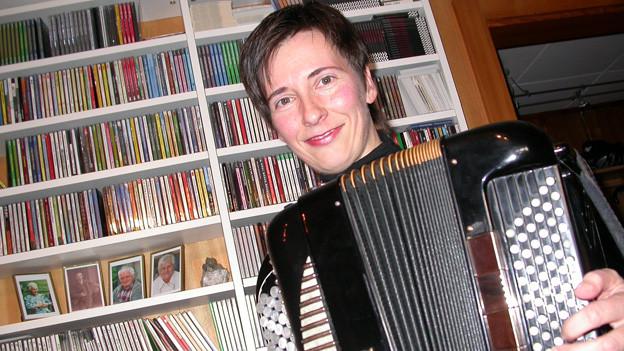 Die Volksmusikerin Claudia Muff aus Ruswil