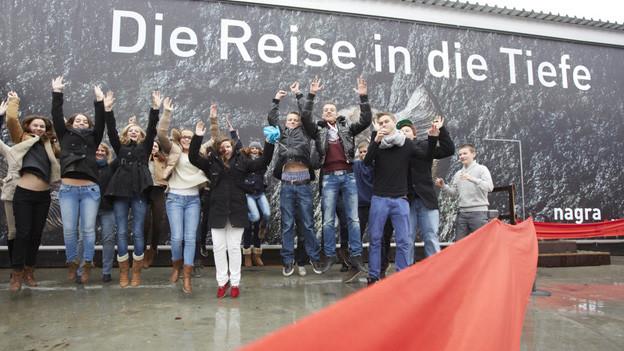 Die Ausstellung zur Atommüll-Endlagerung wurde am Freitag im Verkehrshaus Luzern eröffnet.