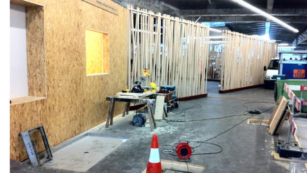 Die neue Velostation in Luzern ist im Bau.