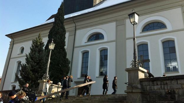Vor der Gedenkfeier in der Pfarrkirche Willisau