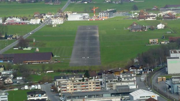 Der Obwaldner Flugplatz Kägiswil.