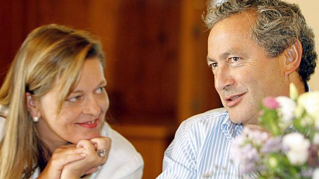 Die Urner Regierungsrätin Heidi Zgraggen freut sich über die Rückkehr von Samih Sawiris.