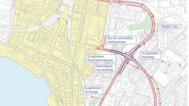 Der Stadttunnel soll die Innenstadt vom Verkehr entlasten.
