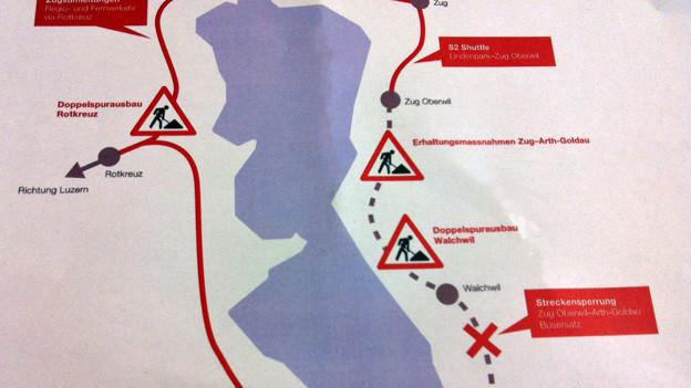 Dies der Plan für die Bahnspurausbau.