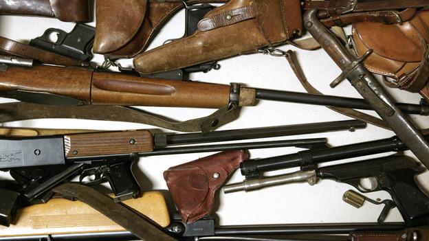 500 überflüssige Waffen wurden bei der Luzerner Polizei abgegeben