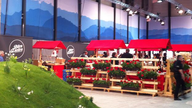 Blumiger Auftritt des Kantons Bern an der Luga.