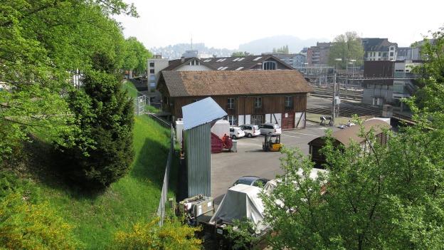 Der Hochhausstandort Steghof in der Stadt Luzern ist umstritten.