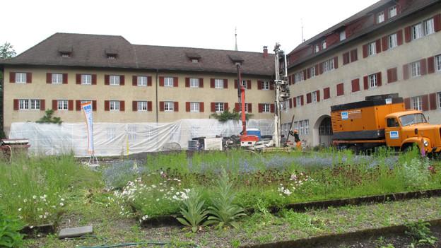 Der Umbau am Kloster Wesemlin beginnt.