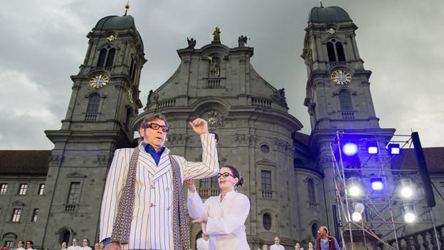 Das Welttheater in Einsiedeln feiert Premiere.