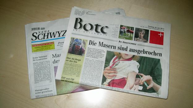 Aus zwei mach eins: Die Neue Schwyzer Zeitung wird eingestellt