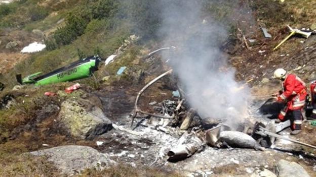 Vier Personen starben bei einem Helikopterabsturz im Kanton Uri