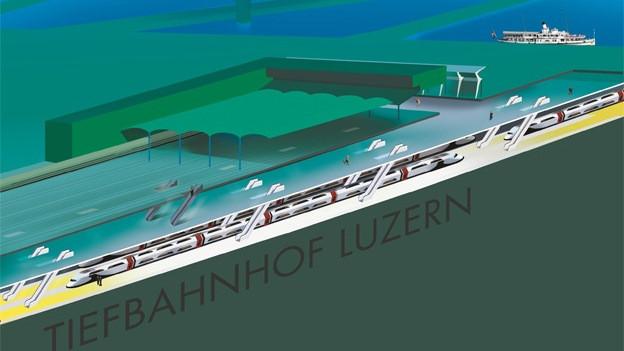 Die Luzerner Regierung favorisiert einen Durchgangsbahnhof