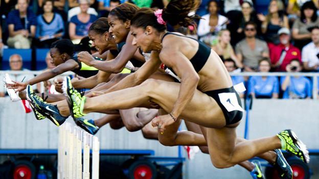 Beim Hürdensprint der Frauen ist eine Spitzenbesetzung am Start.